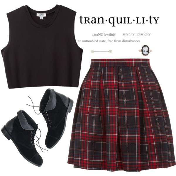 skirt shoes plaid plaid skirt