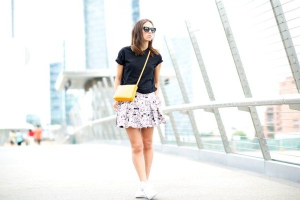 my free choice t-shirt skirt bag shoes sunglasses