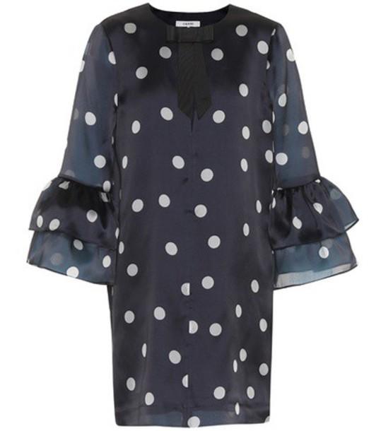 Ganni dress silk dress silk blue