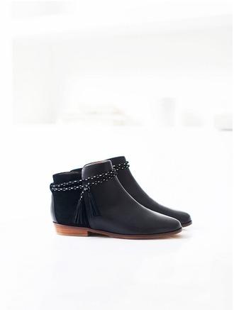 shoes black booties ankle boots sézane