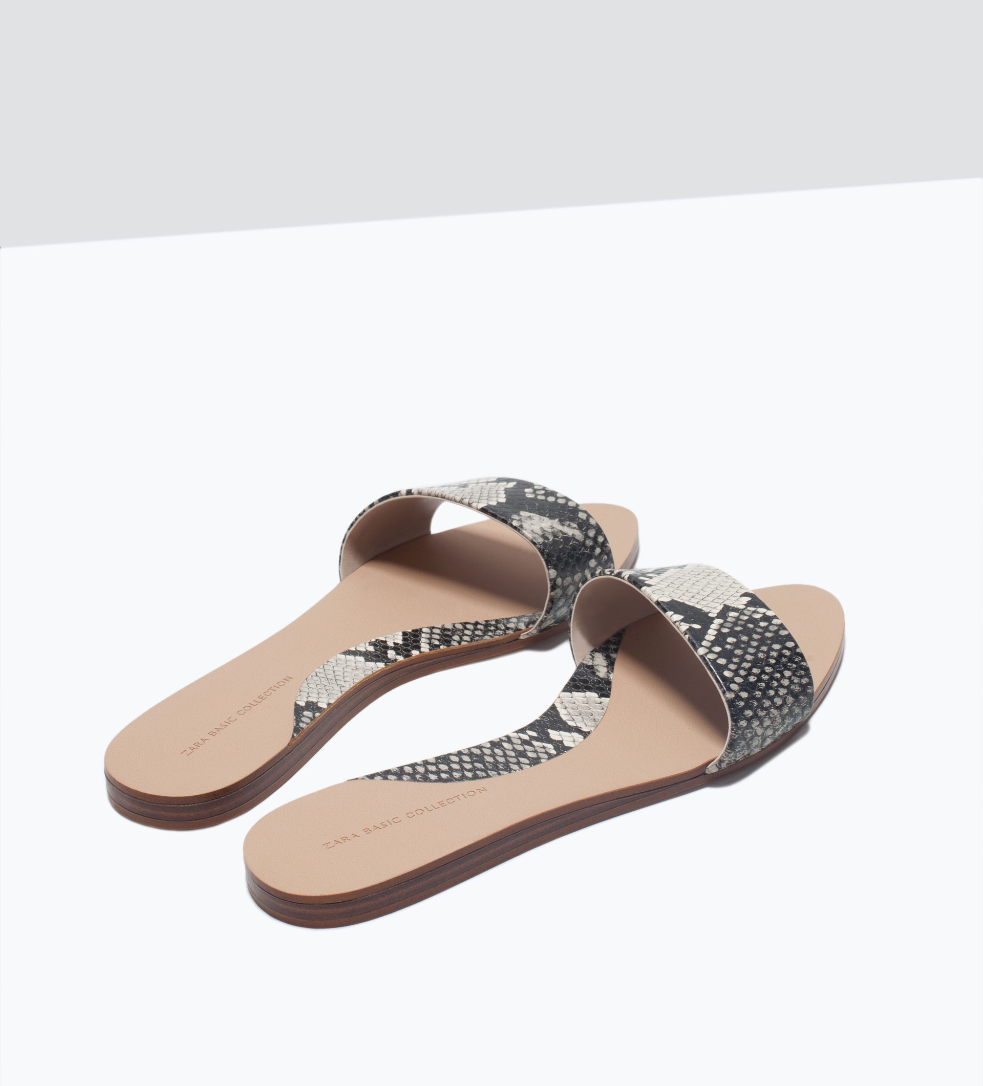 Fantastic Zara Flat Leather Shoes In Multicolor  Lyst