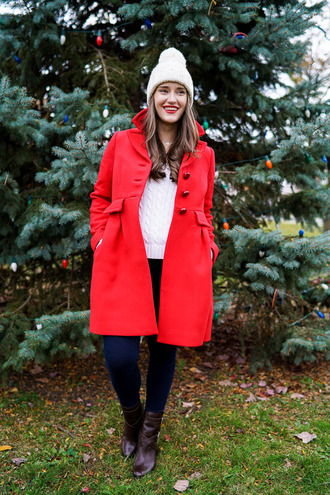 covering bases blogger red coat