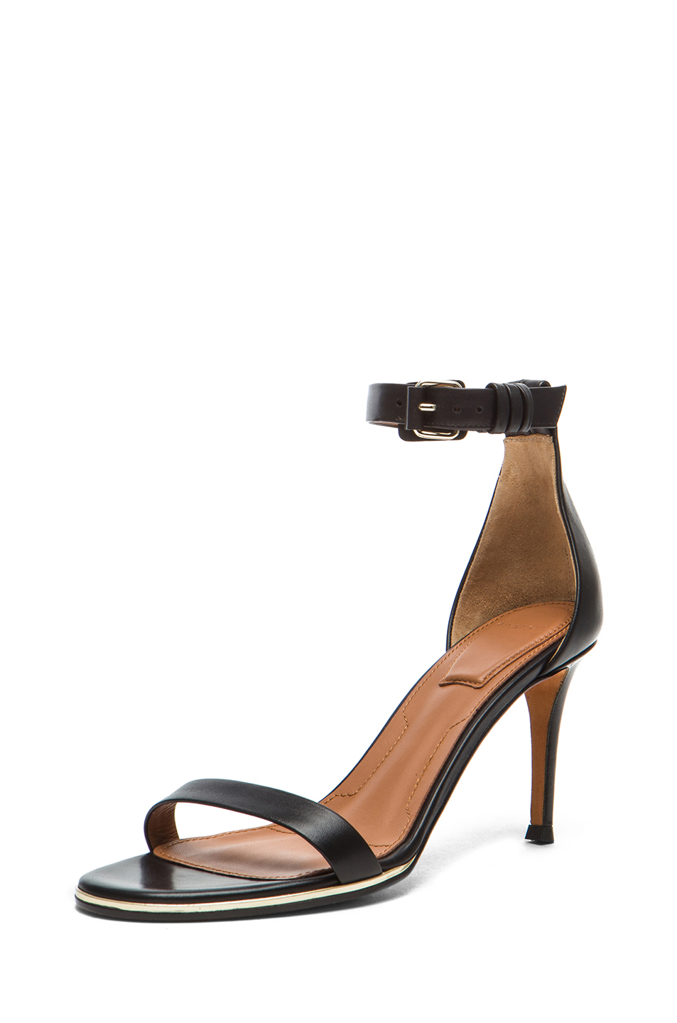 GIVENCHY | Nadia Calfskin Leather Sandals in Black