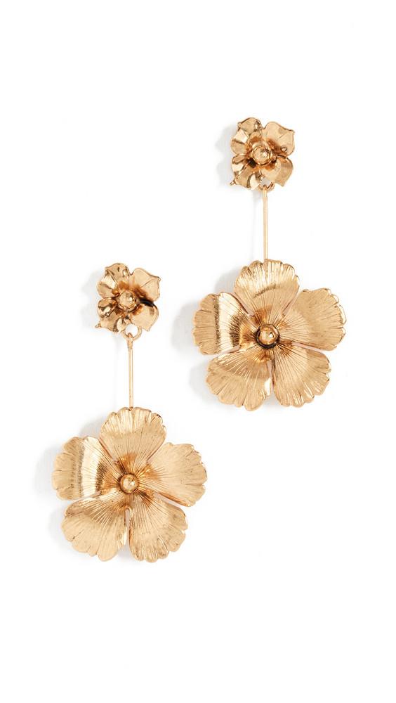 Jennifer Behr Floral Dangle Earrings in gold / yellow