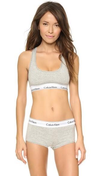 bralette cotton grey underwear