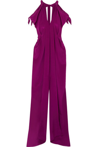 gown cold silk plum dress