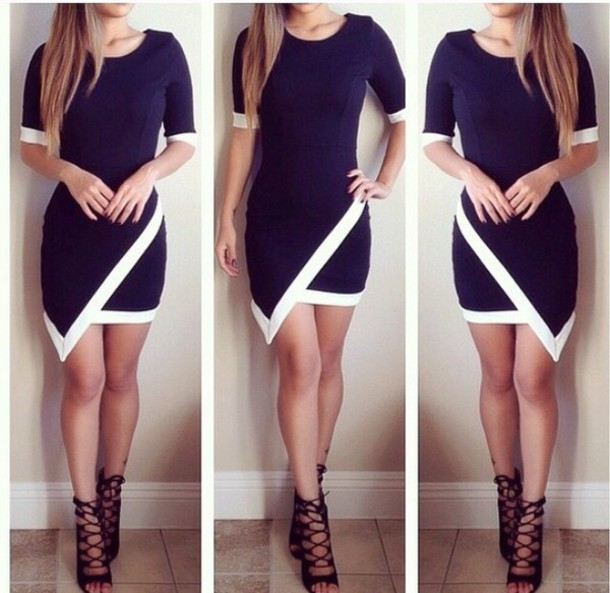 Black And White Dress Black Dress Boho Dress Dress Corilynn