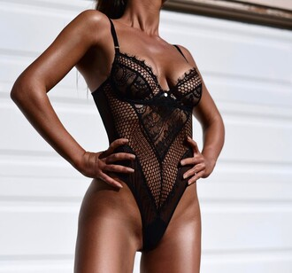 underwear lingerie lace lingerie sexy lingerie black lingerie black underwear bodysuit mesh bodysuit