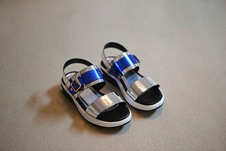 shoes baby children kids flat sandals metallic shoes kids shoes