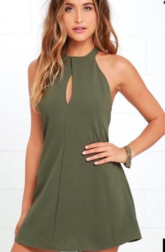 dress green dress mini dress
