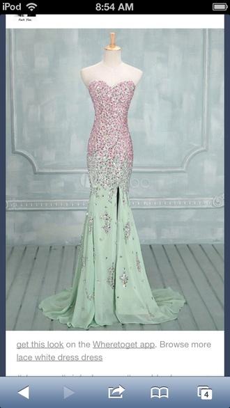 dress prom dress long prom dress mermaid prom dress mint dress