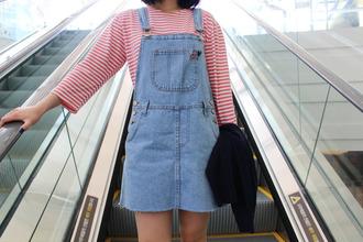 dress clothes denim dress stripes
