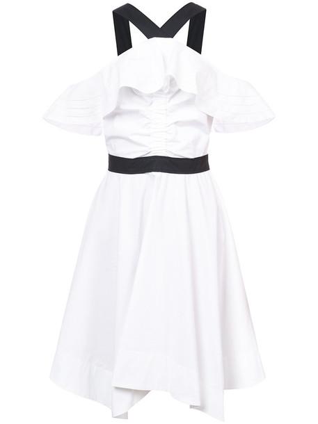 dress halter dress off the shoulder women white cotton