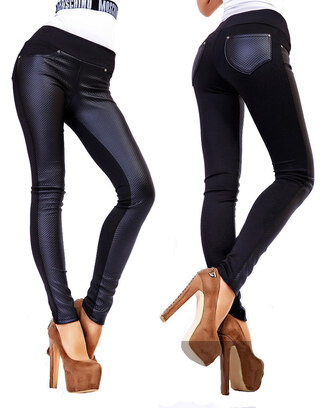 leggings leather zefinka leather pants leather leggings outfit outfit idea fall outfits