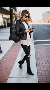 ripped jeans,black,skinny jeans,cute,grunge,black ripped jeans,jacket,jeans,beautiful,black jeans,top,shoes,sunglasses,blouse,shirt,tan,flowy,boho chic,coat,black jacket
