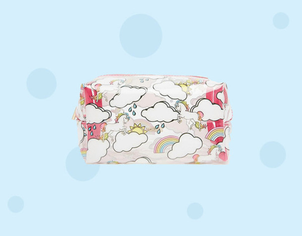 make-up unicorn skinnydip rainbow back to school bathroom makeup bag asos