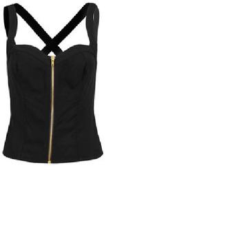 shirt bralette top black gold cross sexy
