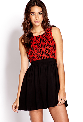 Baja Beauty Fit & Flare Dress | FOREVER 21 - 2000126385