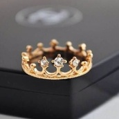 jewels,ring,engagement ring,gold,diamonds,crown,accessories,royal,crown golden ring,gold ring,stone,stone ring,crown ring