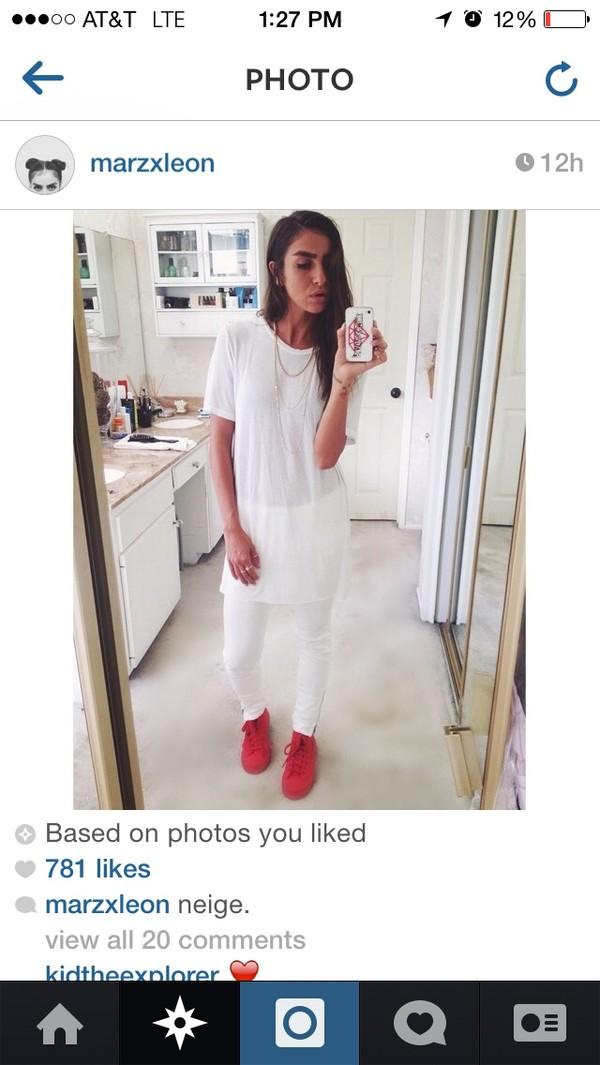 shirt white essential long