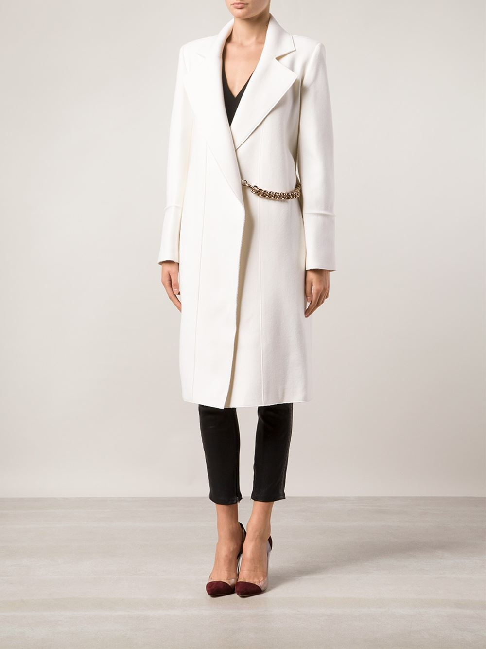 Victoria beckham microtwill pleat coat