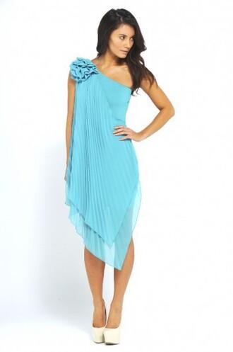 dress blue dress asymmetrical asymmetric dress