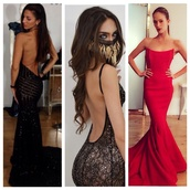 low back,lowback dress,backless dress,dress,prom dress,black,jewels