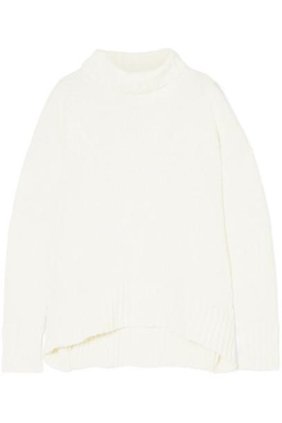 sweater turtleneck turtleneck sweater white cotton off-white
