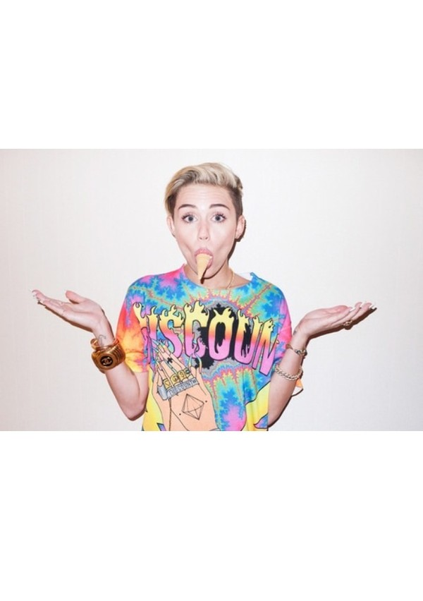 shirt miley cyrus tie dye swimwear