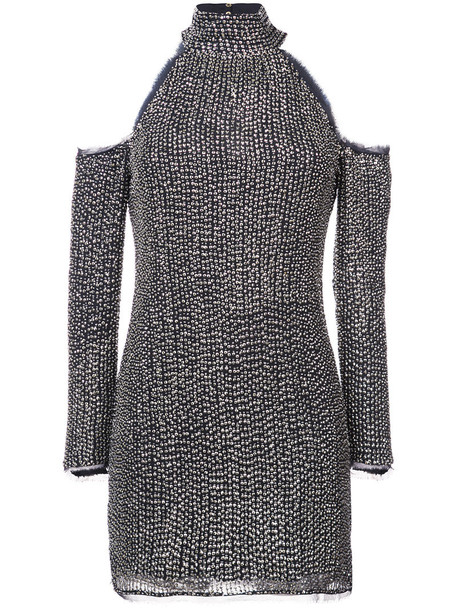 Rachel Zoe dress sequin dress women spandex cold black silk