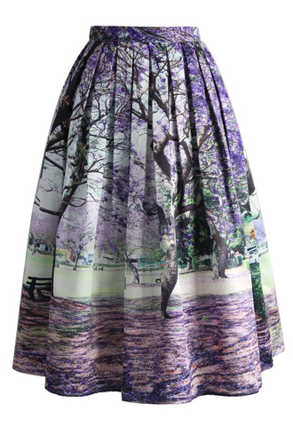 skirt under the jacaranda printed midi skirt chicwish printed skirt midi skirt