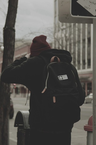 bag punk black backpack bookbag