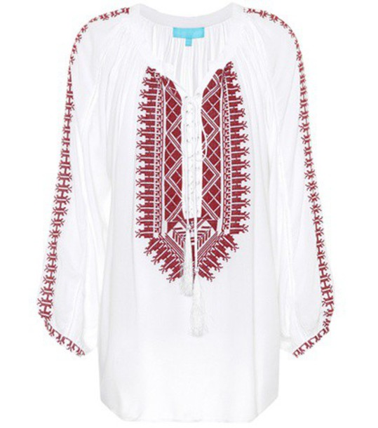 Melissa Odabash top embroidered white