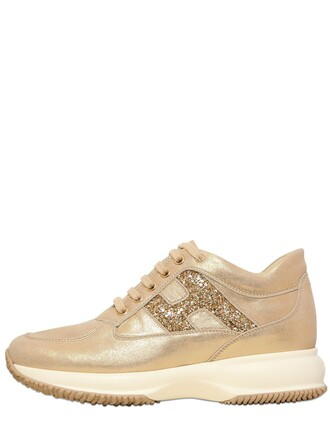 suede sneakers metallic sneakers suede gold shoes