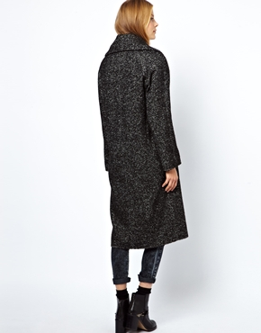 ASOS | ASOS Limited Edition Salt & Pepper Longline Coat at ASOS