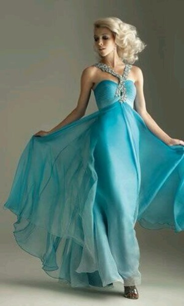 dress blue flowy prom dress long prom dress blue prom dress flowy dress f58f95f8eddb