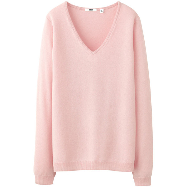 Women Cashmere V Neck Sweater - Polyvore