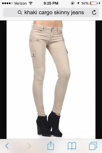Khaki Skinny Pants - Shop for Khaki Skinny Pants on Wheretoget