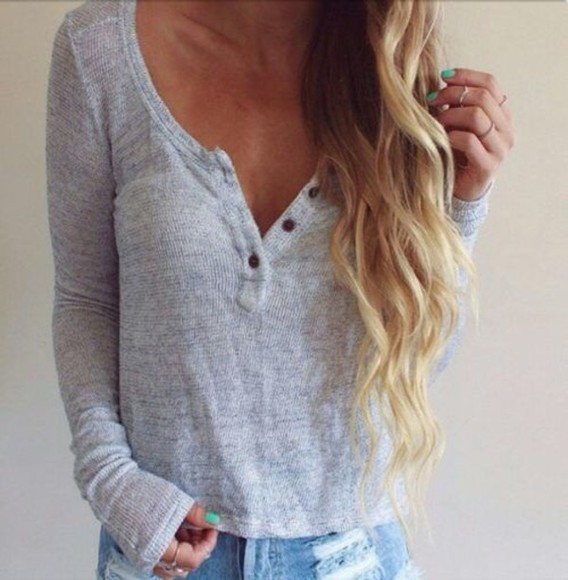 buttons grey jumper