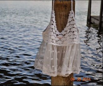 tank top top tanktop lace cute love summer swimwear coverup girls fun