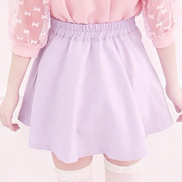 pastel pink pastel purple lavender cute skirt kawaii outfit kawaii blouse