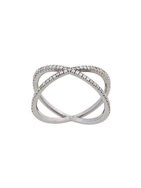 women ring gold black grey metallic jewels