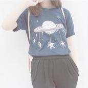 shirt,t-shirt,spaceman,graphic tee