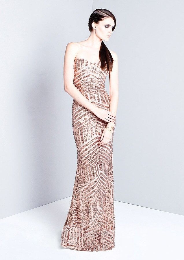 Forever unique rose gold sequin dress size 10 rrp £250