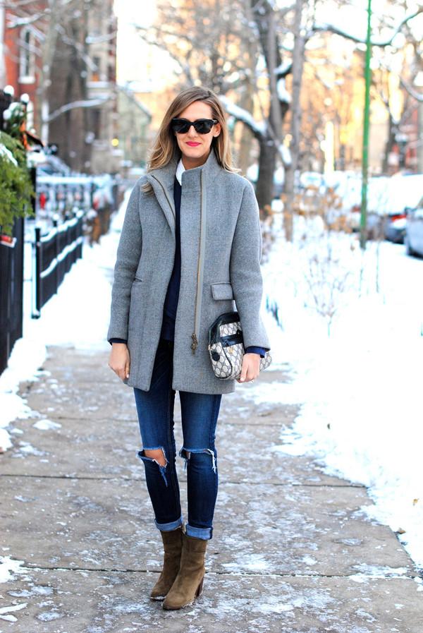 see jane jeans t-shirt coat shoes sunglasses bag