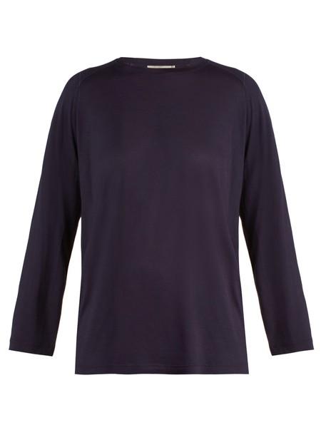 Vince t-shirt shirt t-shirt long navy top