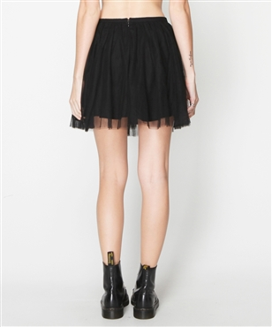BLACK TULLED LAYERED MINI SKIRT | Skirts | Clothing | Shop Womens | General Pants Online