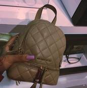 bag,michael kors,backpack,quilted,leather