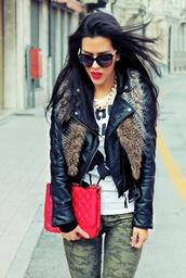 jacket,aint worried,killem,shades,dope,leather jacket,red lipstick