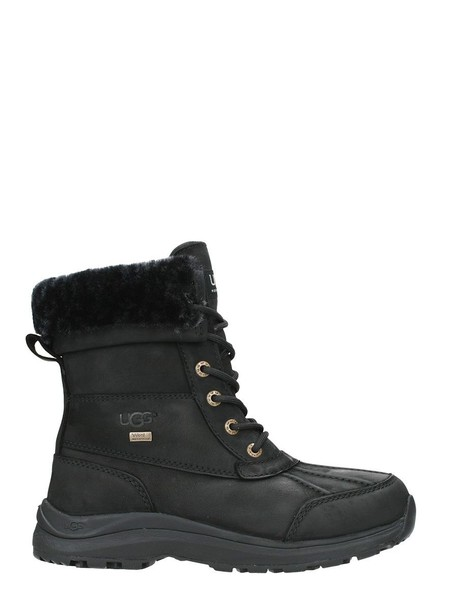 Ugg combat boots leather black black leather shoes
